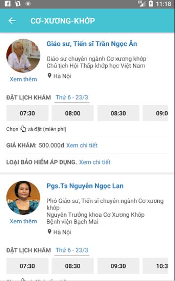 Booking Care – Đặt lịch khám